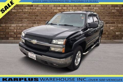 2004 Chevrolet Avalanche for sale at Karplus Warehouse in Pacoima CA