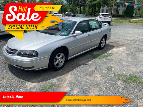 2004 Chevrolet Impala for sale at Autos-N-More in Gilbertsville PA