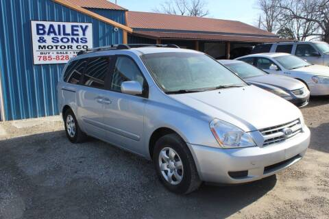 2008 Kia Sedona for sale at Bailey & Sons Motor Co in Lyndon KS