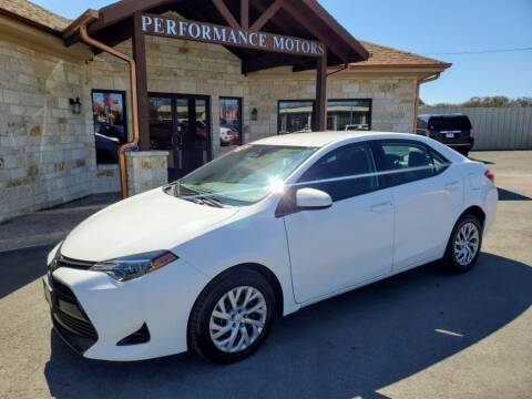 2017 Toyota Corolla for sale at Performance Motors Killeen Second Chance in Killeen TX