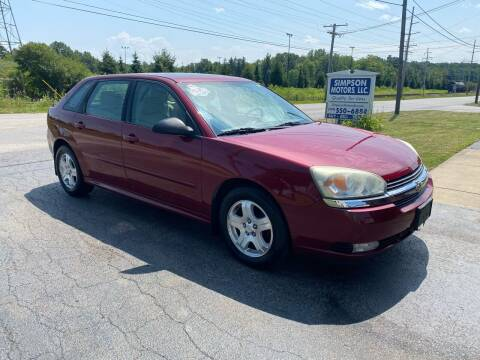 2004 Chevrolet Malibu Maxx for sale at SIMPSON MOTORS in Youngstown OH