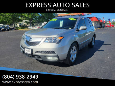 2010 Acura MDX for sale at EXPRESS AUTO SALES in Midlothian VA