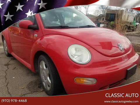 2001 Volkswagen New Beetle for sale at Classic Auto in Greeley CO