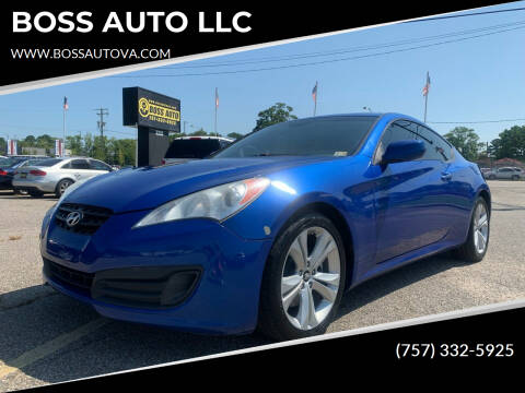2010 Hyundai Genesis Coupe for sale at BOSS AUTO LLC in Norfolk VA