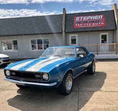 1968 Chevrolet Camaro for sale at Stephen Motor Sales LLC in Caldwell OH