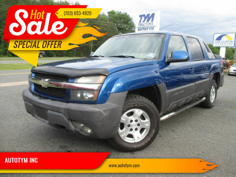 2003 Chevrolet Avalanche for sale at AUTOTYM INC in Fredericksburg VA