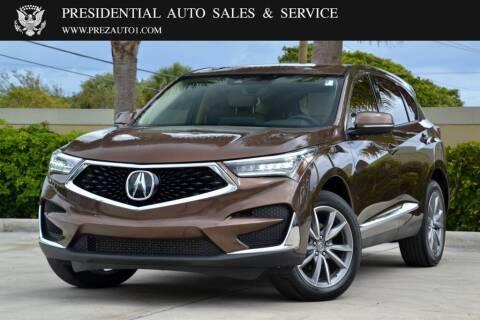 2019 Acura RDX for sale at Presidential Auto  Sales & Service in Delray Beach FL