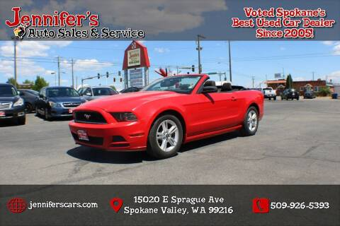 2013 Ford Mustang for sale at Jennifer's Auto Sales in Spokane Valley WA