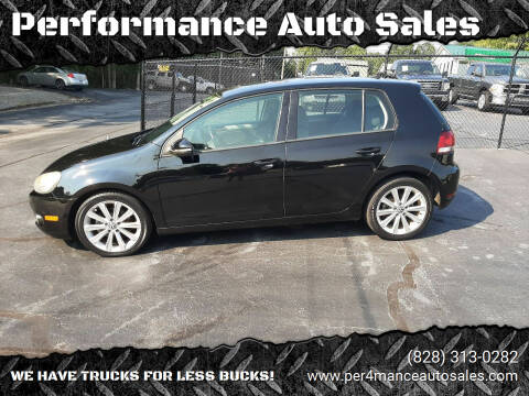 2012 Volkswagen Golf for sale at Performance Auto Sales in Hickory NC