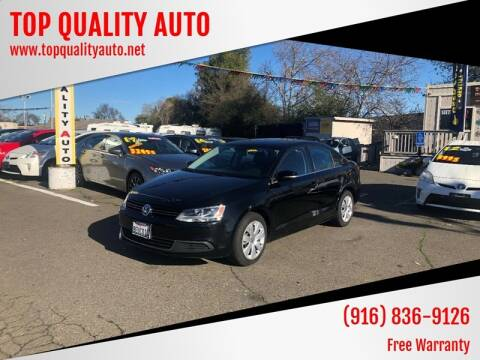 2013 Volkswagen Jetta for sale at TOP QUALITY AUTO in Rancho Cordova CA