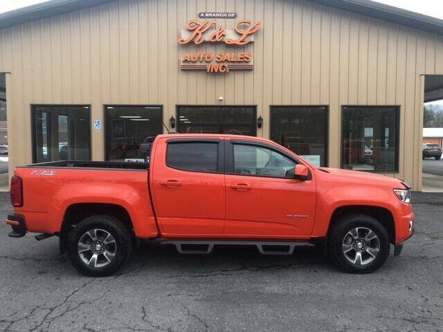 2020 Chevrolet Colorado for sale at K & L AUTO SALES, INC in Mill Hall PA