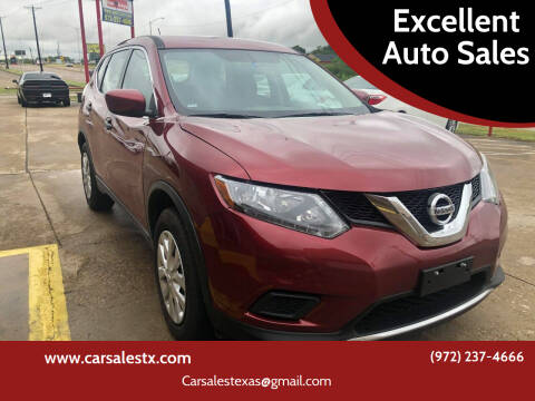 2016 Nissan Rogue for sale at Excellent Auto Sales in Grand Prairie TX