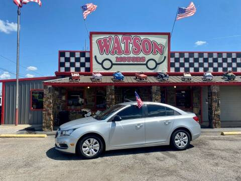 2015 Chevrolet Cruze for sale at Watson Motors in Poteau OK