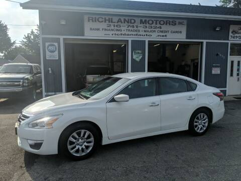 2015 Nissan Altima for sale at Richland Motors in Cleveland OH