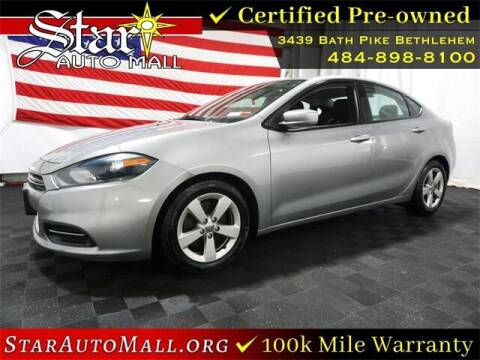 2016 Dodge Dart for sale at STAR AUTO MALL 512 in Bethlehem PA