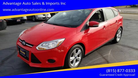 2014 Ford Focus for sale at Advantage Auto Sales & Imports Inc in Loves Park IL