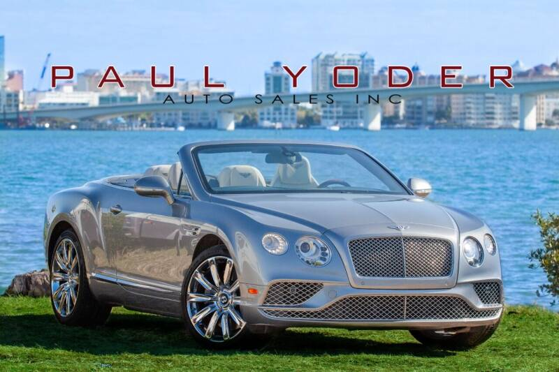 2016 Bentley Continental for sale at PAUL YODER AUTO SALES INC in Sarasota FL