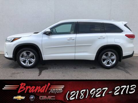 2017 Toyota Highlander for sale at Brandl GM in Aitkin MN
