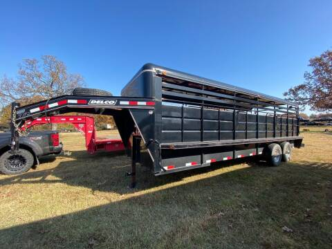 2016 Delco Gooseneck Stock Trailer for sale at TINKER MOTOR COMPANY in Indianola OK