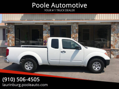2013 Nissan Frontier for sale at Poole Automotive in Laurinburg NC