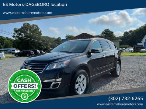 2014 Chevrolet Traverse for sale at ES Motors-DAGSBORO location in Dagsboro DE
