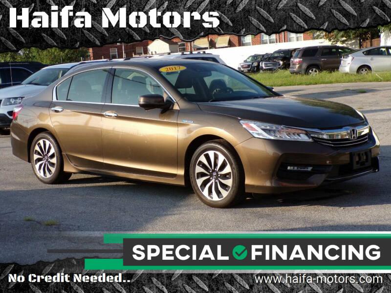 2017 Honda Accord Hybrid for sale at Haifa Motors in Philadelphia PA