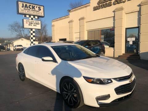 2018 Chevrolet Malibu for sale at JACK'S MOTOR COMPANY in Van Buren AR