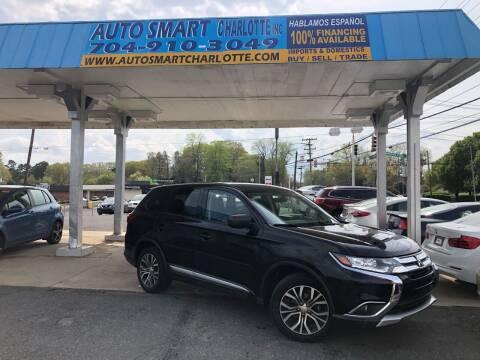 2017 Mitsubishi Outlander for sale at Auto Smart Charlotte in Charlotte NC