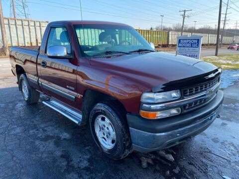 2000 Chevrolet Silverado 1500 for sale at SIMPSON MOTORS in Youngstown OH