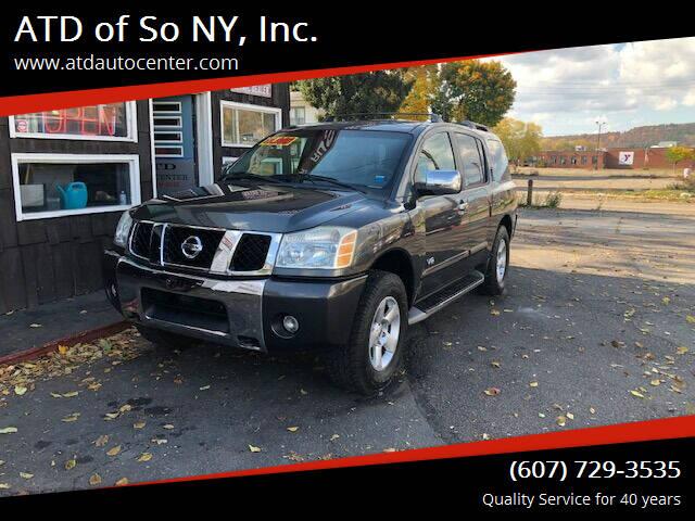 2005 Nissan Armada for sale at ATD of So NY, Inc. in Johnson City NY