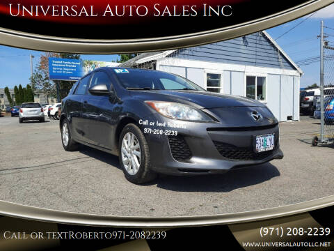 2012 Mazda MAZDA3 for sale at Universal Auto Sales Inc in Salem OR