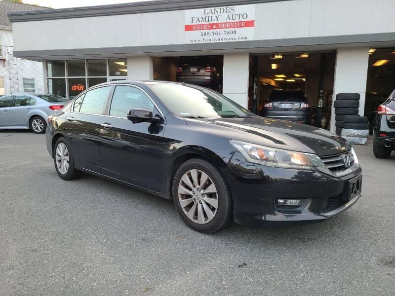 2014 Honda Accord for sale at Landes Family Auto Sales in Attleboro MA