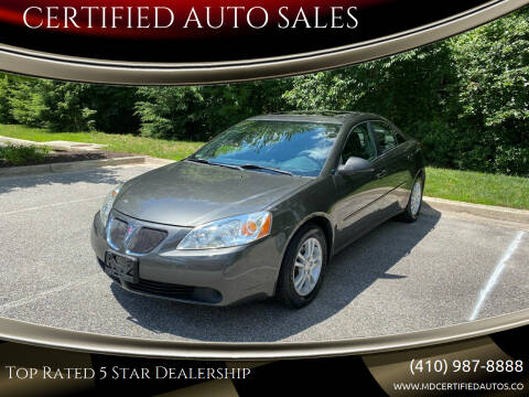 2006 Pontiac G6 for sale at CERTIFIED AUTO SALES in Severn MD