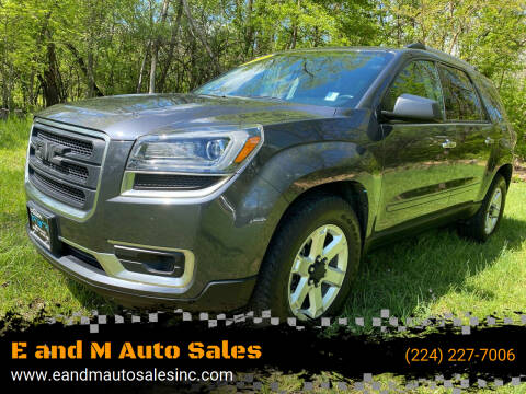 2013 GMC Acadia for sale at E and M Auto Sales in East Dundee IL