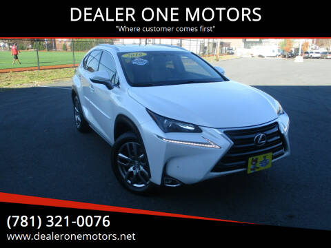 2016 Lexus NX 200t for sale at DEALER ONE MOTORS in Malden MA