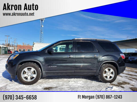 2008 GMC Acadia for sale at Akron Auto in Akron CO