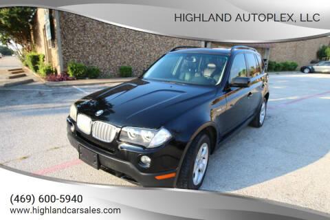 2007 BMW X3 for sale at Highland Autoplex, LLC in Dallas TX