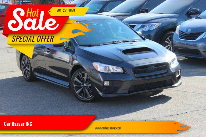 2017 Subaru WRX for sale at Car Bazaar INC in Salt Lake City UT