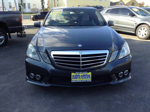 2010 Mercedes-Benz E-Class for sale at Worldwide Auto Sales in Fall River MA