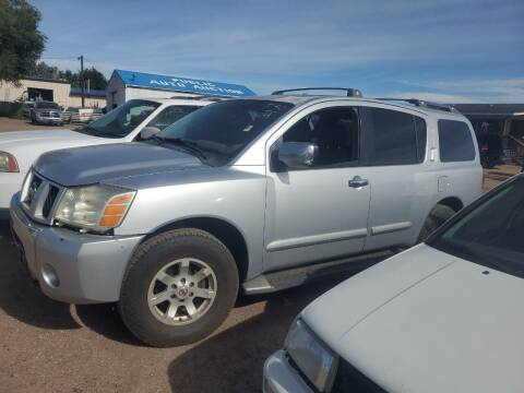 2004 Nissan Armada for sale at PYRAMID MOTORS - Fountain Lot in Fountain CO
