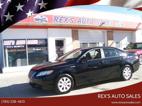 2008 Toyota Camry Hybrid for sale at Rex's Auto Sales in Junction City KS