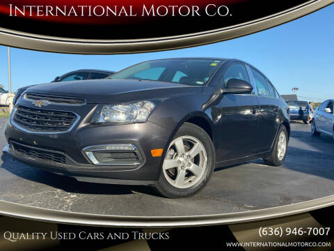 2016 Chevrolet Cruze Limited for sale at International Motor Co. in St. Charles MO