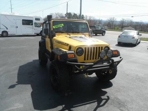 2002 Jeep Wrangler for sale at Morelock Motors INC in Maryville TN