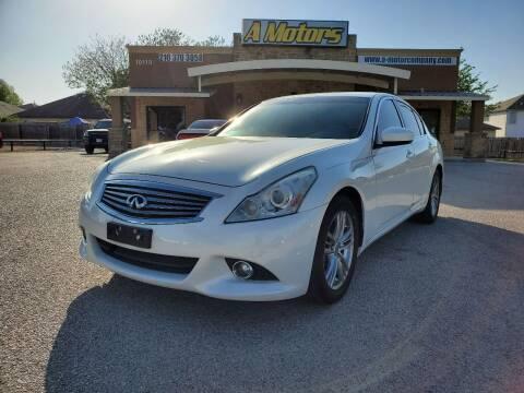 2011 Infiniti G37 Sedan for sale at A MOTORS SALES AND FINANCE in San Antonio TX