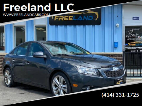 2013 Chevrolet Cruze for sale at Freeland LLC in Waukesha WI