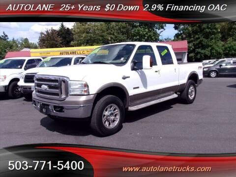 2005 Ford F-250 Super Duty for sale at Auto Lane in Portland OR