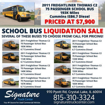 2011 Freightliner Thomas C2 for sale at Signature Truck Center in Crystal Lake IL