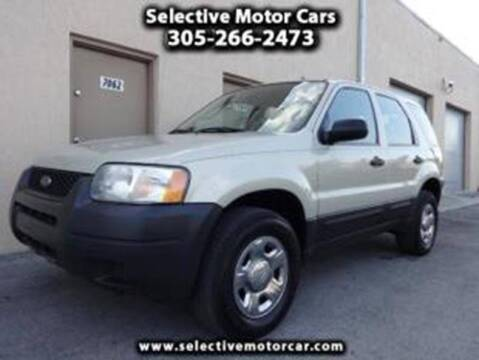 2004 Ford Escape for sale at Selective Motor Cars in Miami FL