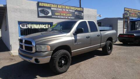 2004 Dodge Ram Pickup 1500 for sale at Advantage Motorsports Plus in Phoenix AZ
