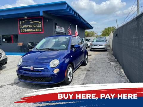 2013 FIAT 500 for sale at Alma Car Sales in Miami FL